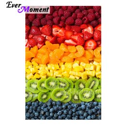 cartoon fruit strawberry Australia - wholesale Diamond Painting Handmade Full Square Drill Fruit Strawberry Orange 5D DIY Hobby Art Diamond Embroidery ASF1689