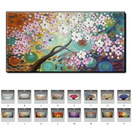 oil picture frames flowers Australia - Quality high Beautiful flowers picture Modern thick knife oil painting hand-painted on canvas wall art home decor for living room no framed