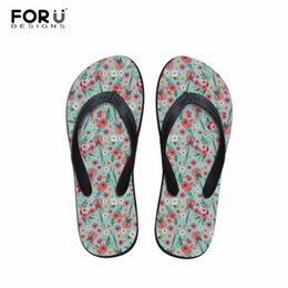 Forudesigns Summer Mens Flip Flops Anti-slip Beach Water Slippers Guitar Prints Flats Flipflops Male Comfortable Bathroom Shoes Flip Flops Shoes