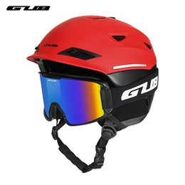 $enCountryForm.capitalKeyWord Australia - Ski Helmet Integrally-molded Snowboard Helmet Adult Men Women Outdoor Sports Skating Skateboard Skiing Glasses Goggles
