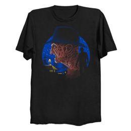 Custom Print T Shirt Cheap Australia - High Quality Custom Printed Nightmare of Death Men's T-Shirt Men's Clothing T-Shirts Tees Men Hot Cheap Short Sleeve Male