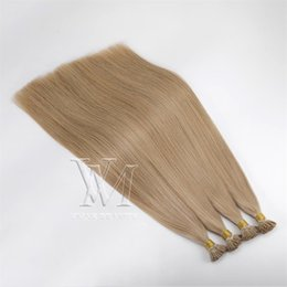 european straight human hair extensions Australia - European Russian I Tip 1g Strand 100g Black Brown 613 Blond Straight Pre Bonded Keratin Stick Double Drawn Virgin Remy Human Hair Extension