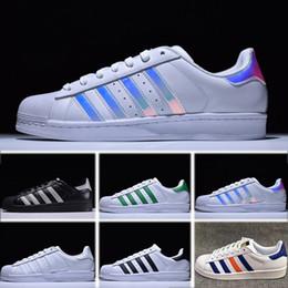 9f83638662d Adidas Superstar 80s Original Superstar Blanc Hologram Iridescent Junior  Superstars Chaussures Décontractées Super Star Femmes Hommes En Cuir  Chaussures de ...
