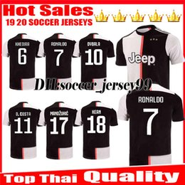 575d4cb79 New 2019 2020 Soccer jersey DYBALA RONALDOES HIGUAIN home 19 20 CUADRADO  PJANIC KHEDIRA MARCHISIO CHIELLINI jerseys uniforms Football shirts