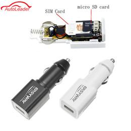Venta al por mayor de Envío gratuito Mini en tiempo real GPS del coche localizador Tracker Soporte GSM GPRS Tarjeta SD Teléfono USB Cargador de coche localizador de dispositivos de localización Blanco Negro