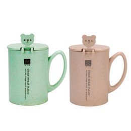 $enCountryForm.capitalKeyWord NZ - Safe and healthy Plastic Wheat Straw Mugs With Spoon,Office Student Creative Eco-Friendly Water Bottle Children and Girls Gifts