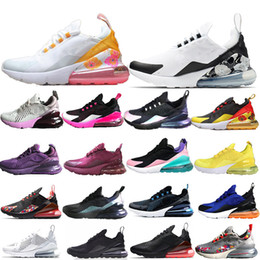 2019 270 WMNS Дизайнерская Обувь Fly USA 27C Цветочный Каракули 3 М Лазерная CNY Bred Оливковое Вязание Для Мужчин Женщин 5-11 на Распродаже