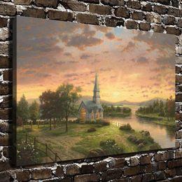 Sunrise Decor NZ - Sunrise Chapel,Home Decor HD Printed Modern Art Painting on Canvas (Unframed Framed)