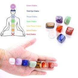 Reiki Healing Wholesalers Australia - Seven Chakra Stone 7 Colors Set Yoga Chakra Irregular Reiki Healing Crystals Stone Polished Individual Stones Comfortable 50 et