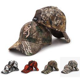 TacTical hiking haT online shopping - Outdoor Browning Cap Camo Baseball Cap Fishing Men Jungle Hunting Camouflage Caps Hat Tactical Hiking Casquette Hats