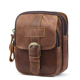 e31fde6a0b58 good quality Genuine Leather Men Waist Packs Cell Mobile Phone Bag Vinatge  Retro Trends Male Cowhide Hip Bum Fanny Pack Small Waist Bag