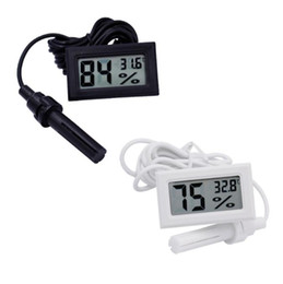 Controller probe online shopping - Mini Digital LCD Thermometer Hygrometer Temperature Humidity Meter Thermometer probe white and Black in stock SN2476