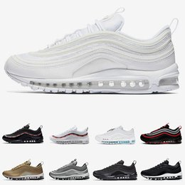 dark brown tennis shoes 2020 - Men Women Running Shoes Mens Trainers Jesus Triple White Black Reflect Silver Gold Bullet Corduroy Pack cheap Sport Snea