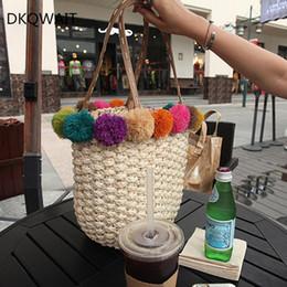 $enCountryForm.capitalKeyWord Australia - Summer Top Handbags Women Straw Bag Female Color Hair Bulb Beach Bags Woman Designer Casual Totes Ladies Vintage Bolsa Feminina Y190704
