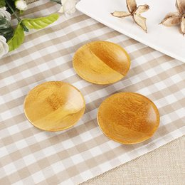 $enCountryForm.capitalKeyWord Australia - Creativity natural bamboo small round dishes Rural amorous feelings wooden sauce and vinegar plates Tableware plates tray MMA1433