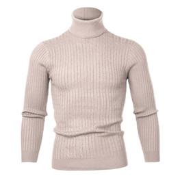 $enCountryForm.capitalKeyWord NZ - SHUJIN 2019 Men's High Neck Sweater Solid Simple Slim Fit Hedging Turtleneck Knitted Long Sleeves Pullover Top Males