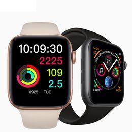 $enCountryForm.capitalKeyWord Australia - New iPhone W54 Smart Watch Fitness Monitor Heart Rate Tracker Bluetooth Control Wireless Charging SmartWatch For IOS Android PK DZ09 Z60