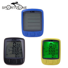 Bicycle Wireless Lcd Australia - Wireless Waterproof Bicycle Computer Odometer 3 Color Bike Speedometer Large-screen LCD Backlight Bicycle Stopwatch #136745