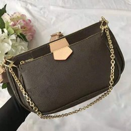 black purse chain strap NZ - Newest Classic Designer Luxury Handbags Purses 3 in 1 Print Flower Mahjong Bag Men And Women Handbag Chain Shoulder Strap Crossbody Bags 45