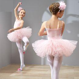 f3bd40263105 2019 New Girls Ballet Tutu Kids Gymnastics Training Soft Dance Suit Sling  Tulle Skirted Leotards Ballet Costumes Long Sleeve