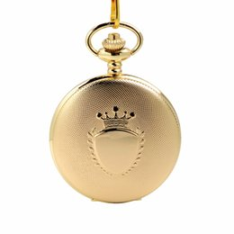 glasses golden chain UK - LPW879 CKKU Jewelry 3pcs LOT Antique Round Golden Case Cover Pocket Watches Quartz Movement with Chain