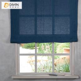 $enCountryForm.capitalKeyWord Australia - Modern Pure Color Flat Linen Custom Roman Shades Light Filter   Blackout Roman Shades Window Curtains With Chain Mechanism
