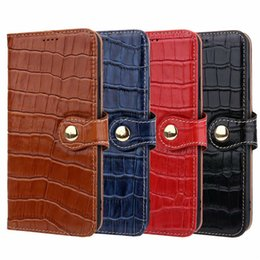 iphone leather case genuine flip pu Australia - Designer Classic Crocodile Genuine Leather Case For iPhone 11 Pro X Xs Max Xr 8 7 Plus Samsung Note 10plus Fashion Wallet Card Flip cover