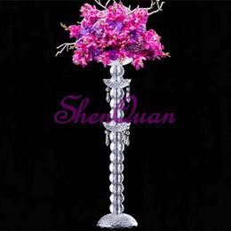 $enCountryForm.capitalKeyWord Australia - New hot sale acrylic crystal vase centerpiece wedding centerpiece pillar columns walk way stand wedding decoration,flower holder