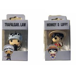 Discount one piece pop figures - 0FUNKO POP One Piece & LUFFY TRAFALGAR.LAW Pocket POP Keychain Action Figure Collection Toys for Children Gift with reta