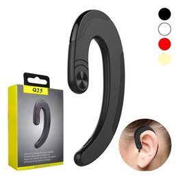 red wireless tablet Australia - Q25 Conduction Earphone Wireless Bluetooth Sports Stereo Headset for laptop Tablet Cell phone huawei Bone Ear Hook Headset Q25 VS S103 V8 V9