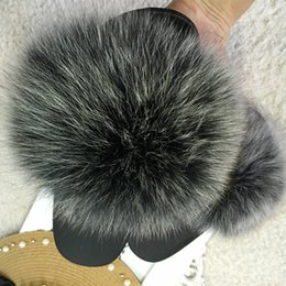 $enCountryForm.capitalKeyWord Australia - Fox Hair Slippers Women Fur Home Fluffy Sliders Plush Furry Summer Flats Sweet Ladies Shoes Large Size 45 Hot Sale Cute