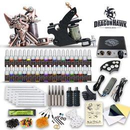 Beginner Tattoo Kit 2 Machine Gun 40 Color Inks LCD Power Supply Needles Tips Tattoo Set on Sale
