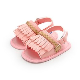 $enCountryForm.capitalKeyWord Australia - Baby girl shoes Summer wild tassel cute sandals soft bottom non-slip toddler shoes for 0-18 Months