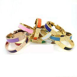 $enCountryForm.capitalKeyWord UK - B37 GOLD COLOR Women's H Bangles Luxury Stainless Steel Enamel charm Bracelets Bangle H Letter Buckle High quality Bracelets For women