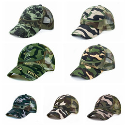 camo mesh hats Australia - Kids Mesh Camouflage Trucker Caps Military Hats For Children Summer Sports Caps Army Camo Curved Baseball Caps