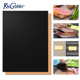 cooking pan wholesalers Australia - Heat Resistant Copper Bakeware Mat Barbecue Roast Sheet Portable Easy Clean Grill Pad Bbq Tool 3 Color Choose C19041501