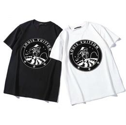 Tee Shirt Designs For Sale Australia - Hot Sale Europe Brand T Shirt Fashion Tide T Shirt for Men Flocking Design Shirts Letter Print Casual Men Women Crew Neck tees