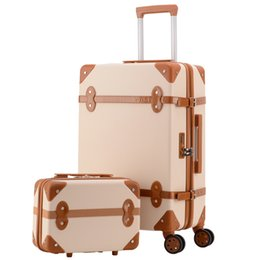 Spinner Carrying Case Australia - Travel suitcase set Rolling Luggage Trolley case Travel Bag Retro Suitcase Spinner Wheels Women Business carry on luggage set