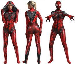 Carnival Suits Kids Australia - Venom Gwen Stacy Spider Costume Cosplay Scarlet blood Gwen Stacy Cosplay Zentai Suit Superhero Costume