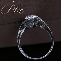White Gold Moissanite Australia - new 2019 vvs clarity synthetic moissanite DEF White color diamond 18k white gold ring for engagement wedding ceremony