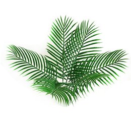 $enCountryForm.capitalKeyWord Australia - Artificial fake Plastic Leaves green plants Fake Palm Tree Leaf Greenery for Floral flower Arrangement flore wedding decoration