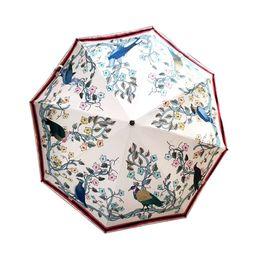 China NEW Classic pattern Bee flower Umbrella For Women 4 color options three Fold Umbrella Rain Umbrella VIP gift with Box suppliers
