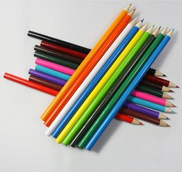 writing sets wholesale UK - Writing Supplies Natural Wooden Color Pencil Set Drawing Books Painting Pencil for Kids Gift Colored Pencils for Sketch 18 Colors