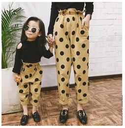 parent child clothing NZ - Parent-child clothing original wave point pants boys harem pants high waist
