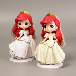 Princess Cake Figures NZ - NO2 Hot Sale Princess Action Figure PVC Collection Model Toys Cake Decorations Or Car Swing For Kids Holiday Party Gifts 16cm