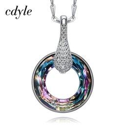 88c36d47e Brooch Swarovski Australia - Cdyle Crystals from Swarovski Necklace Ladies  Pendants S925 Sterling Silver Jewelry Elegant