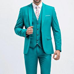 $enCountryForm.capitalKeyWord NZ - Dressing a button suit suit wedding boyfriend fashion slim men's purple men's tuxedo jacket men (coat + pants + vest)