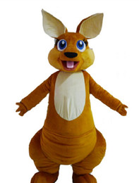 adult cartoon outfits NZ - Kangaroo Mascot Costumes High-quality Material Helmet Ultra soft velvet fabric Unisex cartoon Apparel Outfits Adult Size