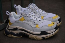 Dsm Australia - Best Quality Balenciaga7F Triple S Sneakers DSM WHITE YELLOW BLUE Fashion Spec Trainers Tripe S Training Sneakers Shoes size EUR 36-45