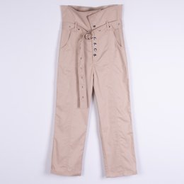 $enCountryForm.capitalKeyWord Australia - 2019 personality corns webbing beam high waist casual pants belt Leisure pants loose style pencil leggings ankle length pant